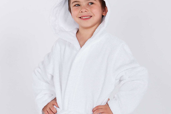 Детский банный халат с логотипом Calista